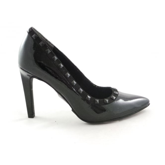 Marco Tozzi 2/22449/29 Metato Black Patent Court Shoe