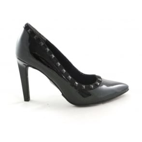 2/22449/29 Metato Black Patent Court Shoe