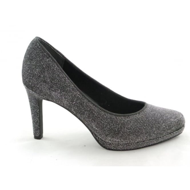 Marco Tozzi 2/22450/29 Agaro Dark Grey Metallic Court Shoe