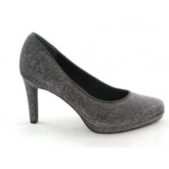 2/22450/29 Agaro Dark Grey Metallic Court Shoe