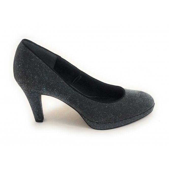 Marco Tozzi 2-22450 Dark Grey Metallic Court Shoe