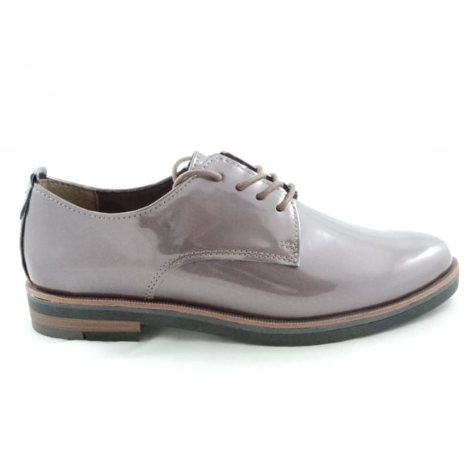 Marco Tozzi 2/23202/39 Bacone Light Brown Patent Lace-Up Shoe