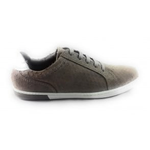 2/23619/28 Como Taupe Leather Lace-Up Casual Shoe
