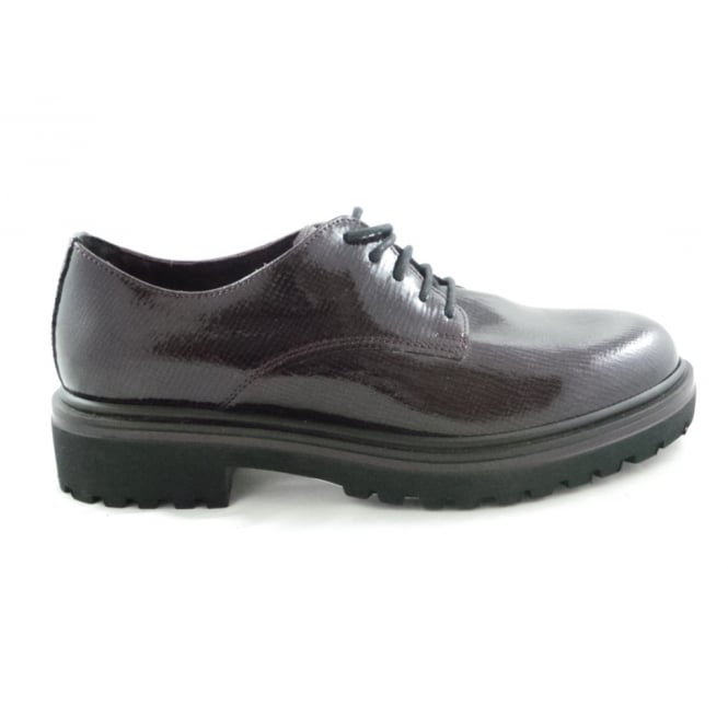 Marco Tozzi 2/23728/29 Marion Chianti Patent Lace-Up Shoe