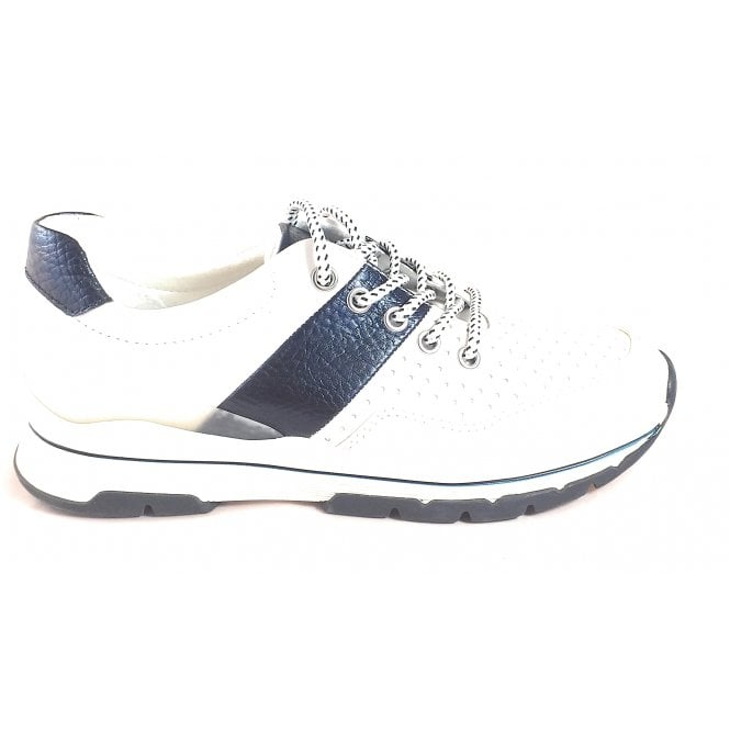 Marco Tozzi 2-23759 Dosi White and Navy Trainers