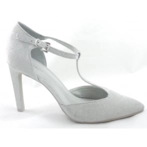 2/24401/38 Light Grey Metallic T-Bar Court Shoe