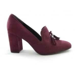 Marco Tozzi 2/24411/29 Pita Burgundy Faux Suede Court Shoe