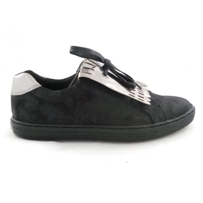 Marco Tozzi 2/24600/29 Lovati Black and Silver Casual Slip-On Shoe