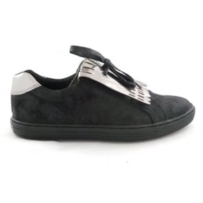 2/24600/29 Lovati Black and Silver Casual Slip-On Shoe