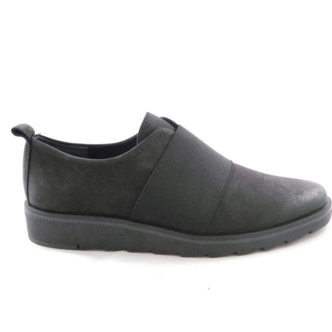 Marco Tozzi 2/24713/29 Agos Black Leather Slip-On Casual Shoe