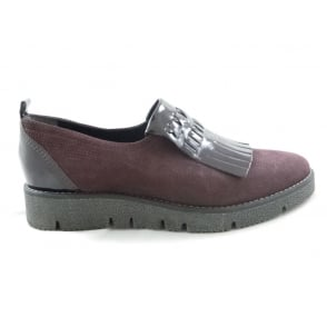 2/24722/29 Burgundy Nubuck and Patent Loafer