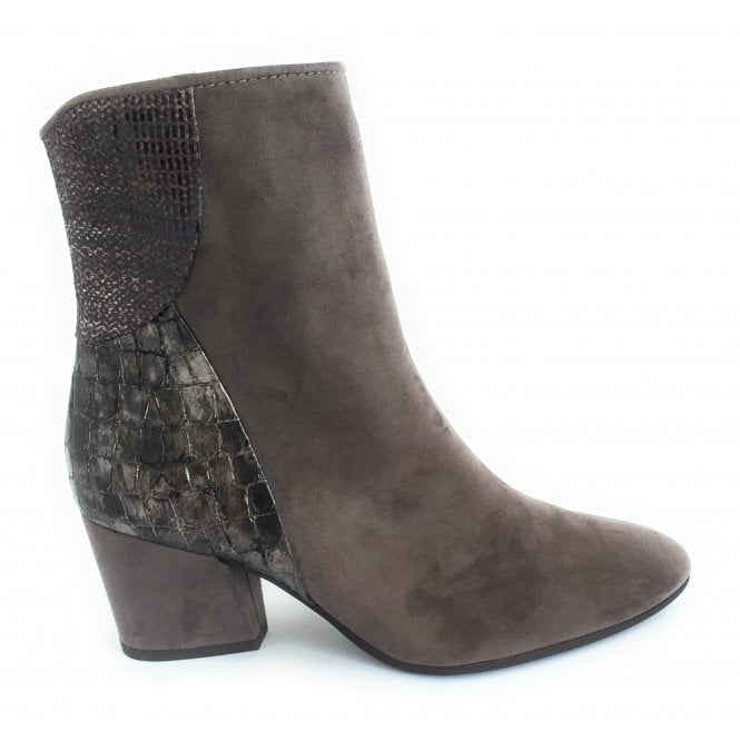 Marco Tozzi 2-25000 Taupe Faux Suede Ankle Boot