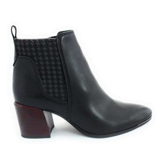 Marco Tozzi 2-25018 Black Faux Leather Ankle Boot