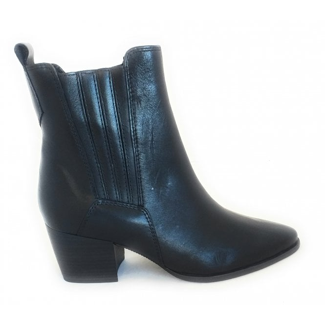 Marco Tozzi 2-25024 Gari Black Leather Ankle Boots
