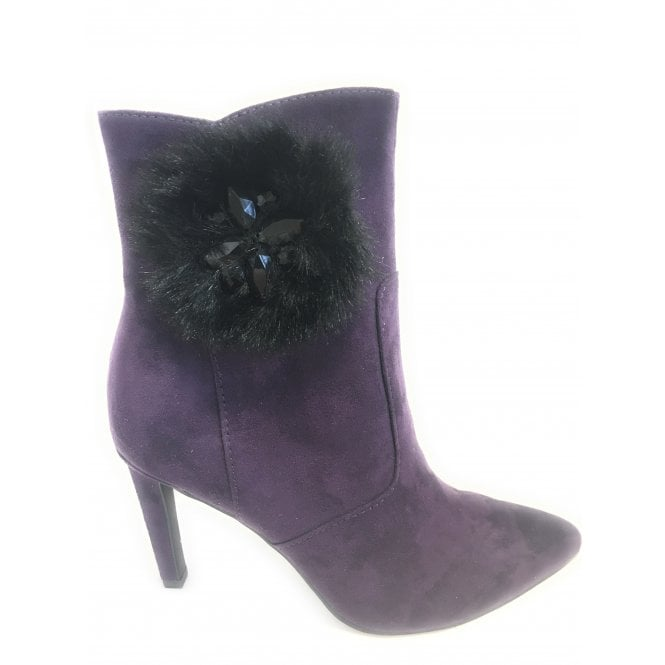 Marco Tozzi 2-25025 Womens Heeled Purple Ankle Boots