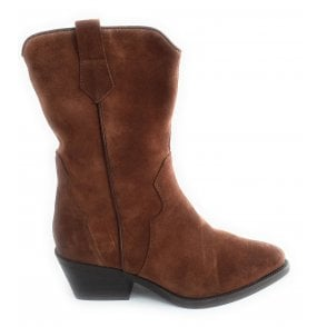 2-25031 Tan Suede Ankle Boot