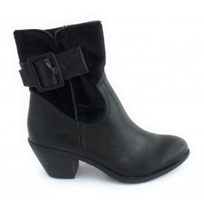 2-25035 Black Ankle Boot