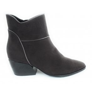 2-25048 Grey Faux Suede Ankle Boot