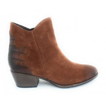2-25057 Tan Suede Ankle Boot