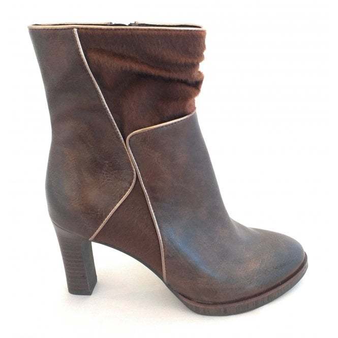 Marco Tozzi 2-25058 Brown Heeled Ankle Boots