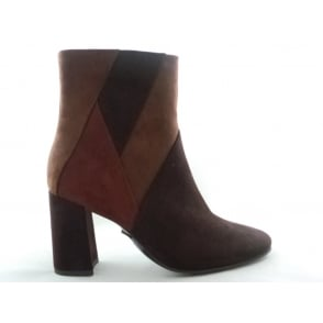 2/25060/37 Mello Brown Multi Microfibre Ankle Boot