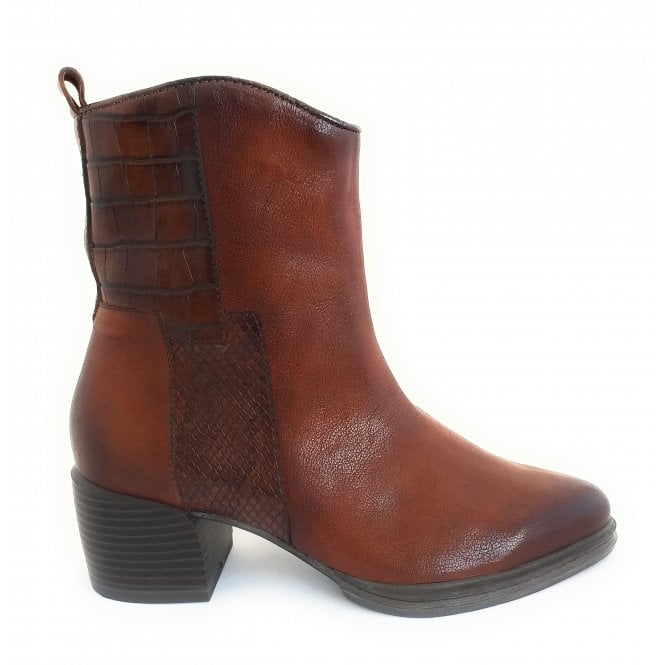 Marco Tozzi 2-25076 Brown Leather Ankle Boot