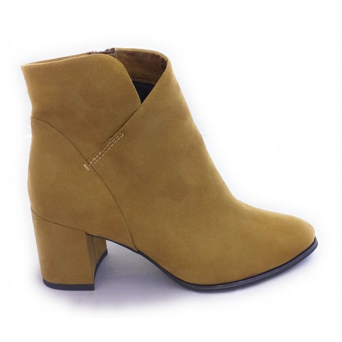 Marco Tozzi 2-25095 Mustard Faux Suede Ankle Boots