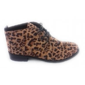 2-25115 Womens Leopard Print Ankle Boot