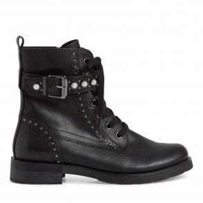 2-25129 Black faux Leather Boots