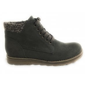 2-25208 Olive Green Casual Ankle Boot
