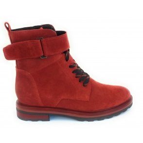 2-25211 Brick Red Suede Ankle Boot