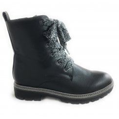 2-25216 Black Lace-Up Boot