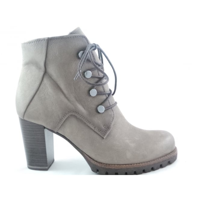 Marco Tozzi 2/25218/29 Bulla Taupe Nubuck Lace-Up Ankle Boot