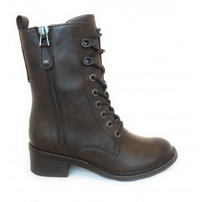 Marco Tozzi 2-25223 Brown Faux Leather Boots