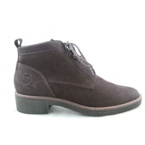 2/25227/29 Capri Brown Suede Lace-Up Ankle Boot