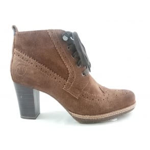 2/25235/29 Brown Suede Lace-Up Brogue Ankle Boot