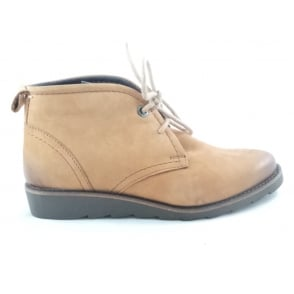 2/25237/29 Light Brown nubuck Lace-Up Ankle Boot