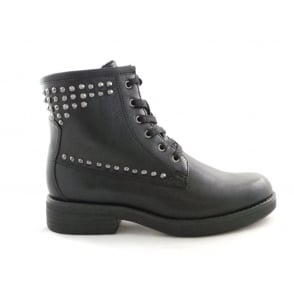 2/25249/29 Black Lace-Up Ankle Boot