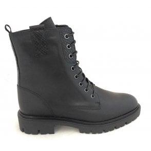 2-25287 Juliana Black Lace-Up Boots