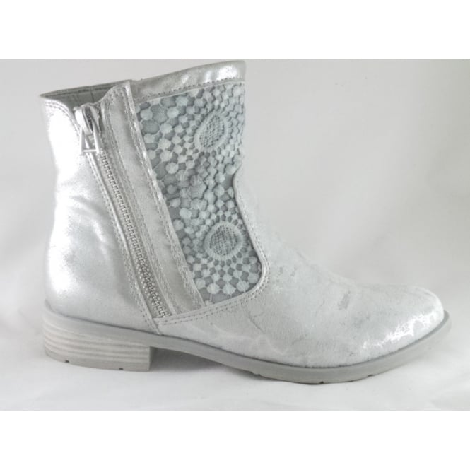 2/25301/38 Rapalli Light Grey Metallic Ankle Boot