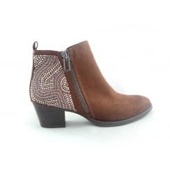 2/25303/39 Faida Tan Faux Suede ankle Boot