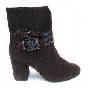 2-25310 Brown Suede Ankle Boot