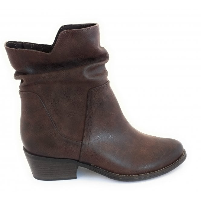 Marco Tozzi 2-25311 Brown Faux Leather Boot