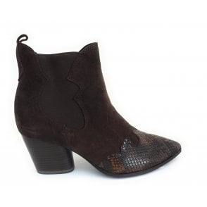 2-25312 Brown Suede Cowboy Boot