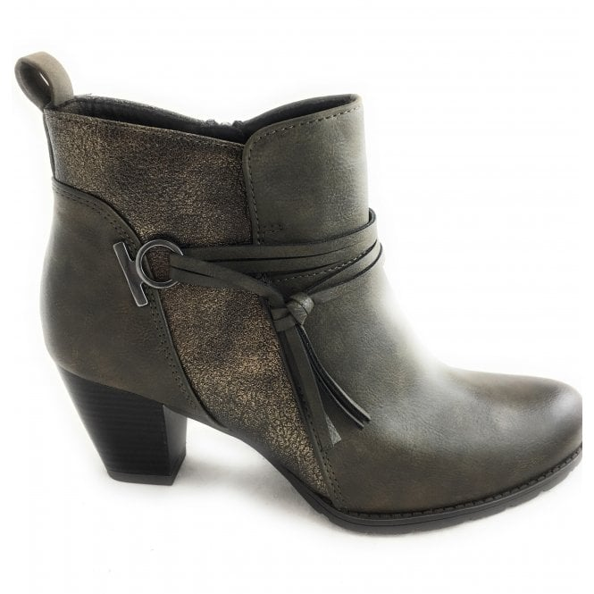Marco Tozzi 2-25313 Womens Khaki Green Ankle Boot