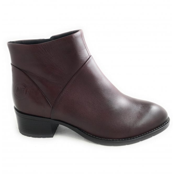 Marco Tozzi 2-2533 Burgundy Leather Ankle Boot
