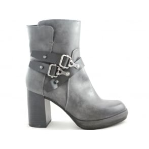 2/25332/29 Lurago Dark Grey Faux Leather Ankle Boot