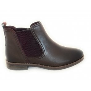 2-25340 Woli Dark Brown Faux Leather Chelsea Boots