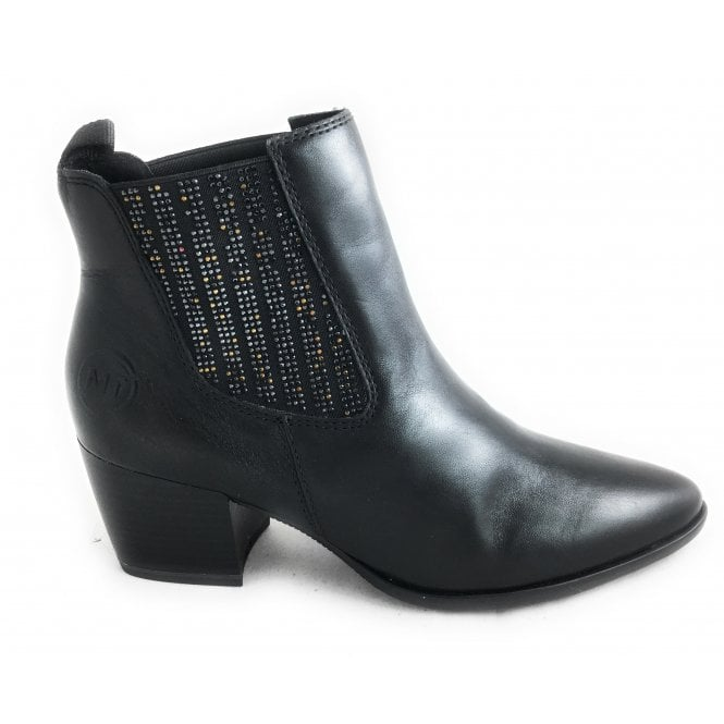 37eb44f2070b Marco Tozzi 2-25359 Womens Black Heeled Ankle Boot - Marco Tozzi from  size4footwear.com UK