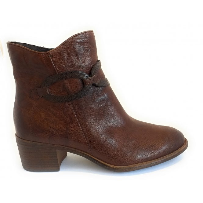 Marco Tozzi 2-25360 Chestnut Brown Leather Ankle Boot